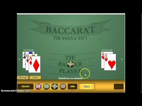 Baccarat - A Failsafe Method to Win Money