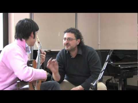 Vincenzo Mozzillo alla Masterclass con il M° Aniello Desiderio