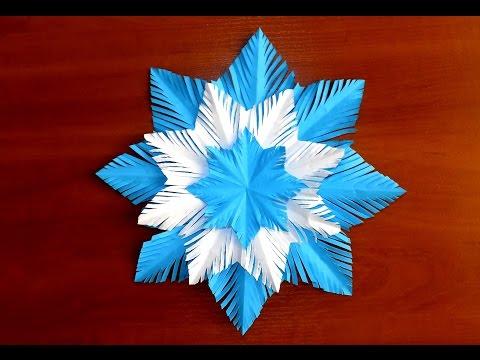 Видео как сделать снежинки и бумаги