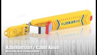 Jokari - Klingenwechsel Kabelmesser / Change of Blades Cable Knife