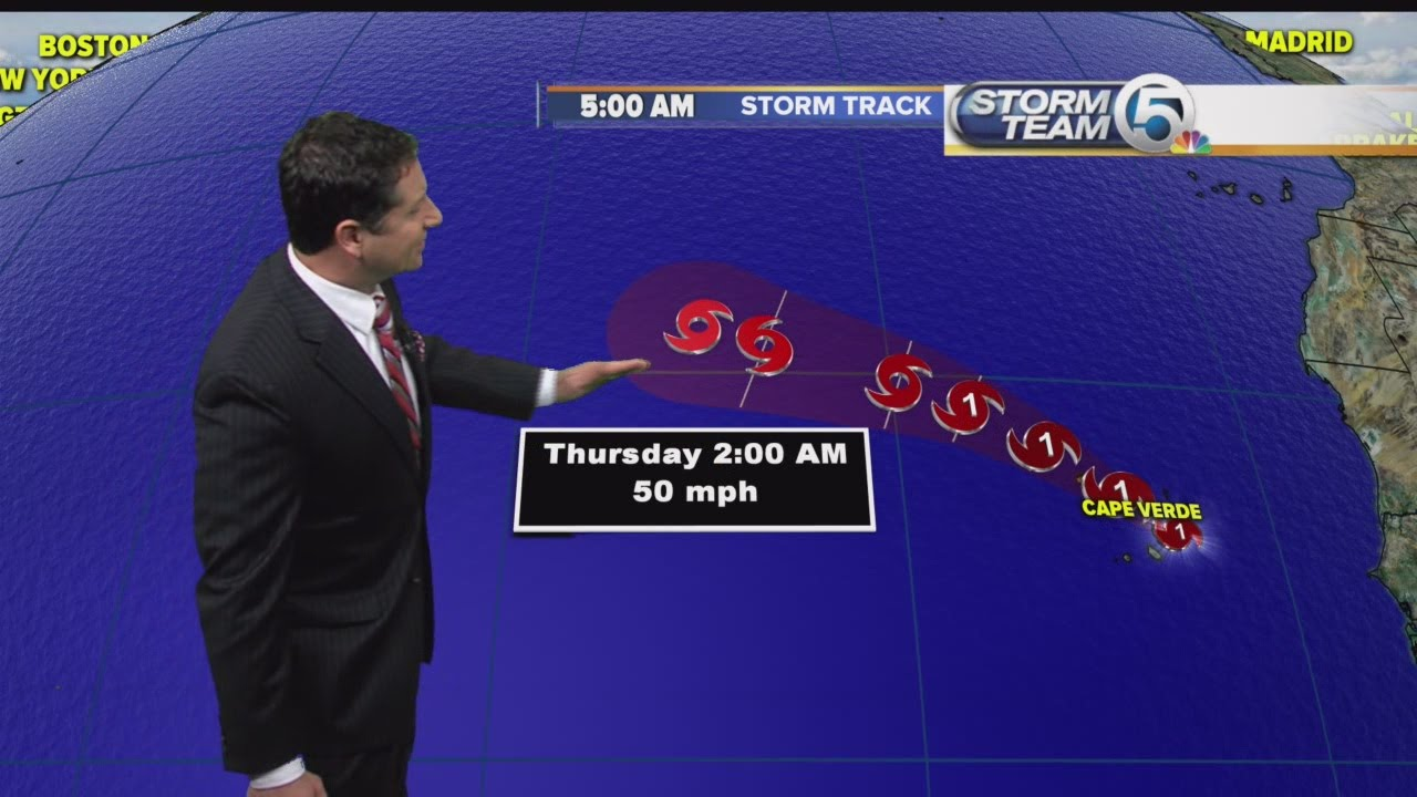Hurricane Fred forms in Atlantic