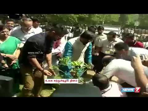 PM Modi plants sapling on World Environment Day | India | News7 Tamil |