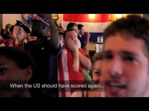 USA Fans erupt after watching US v Algeria Game