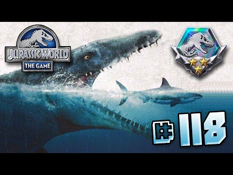 Hunting For The Mosasaur!! || Jurassic World - The Game - Ep 118 HD