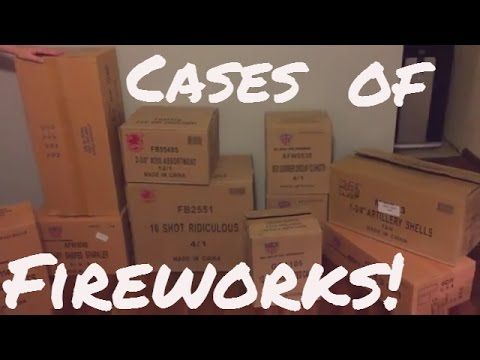 Unboxing Cases of fireworks 2016 fireworks stash and prices
