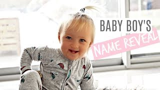BABY BOY'S NAME REVEAL *AUSSIE MUM VLOGGER*