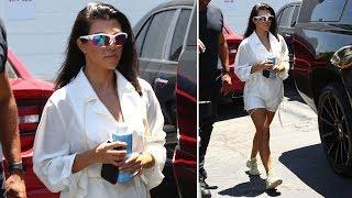Kourtney Kardashian Radiant In White At Dance Class