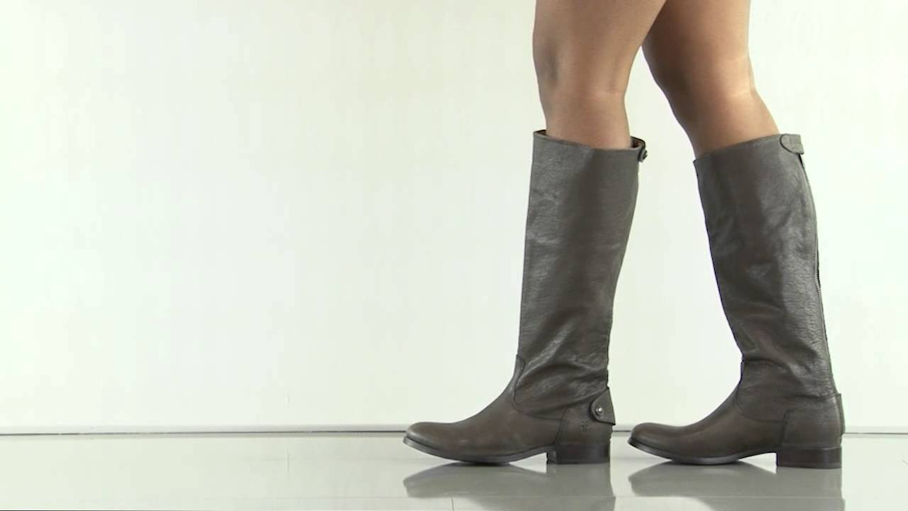 Melissa Button Back Zip 76430 In Grey Frye Shoes Youtube