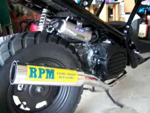 Honda Ruckus RPM Exhaust Video