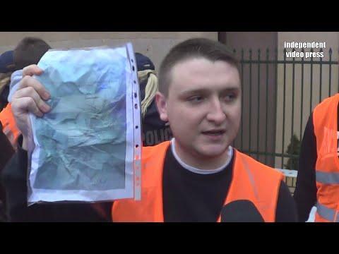Komitet Ochrony Debili Czyli Młodzież Wszechpolska Demaskuje Manifestacje KOD - 9.01.2016, Białystok