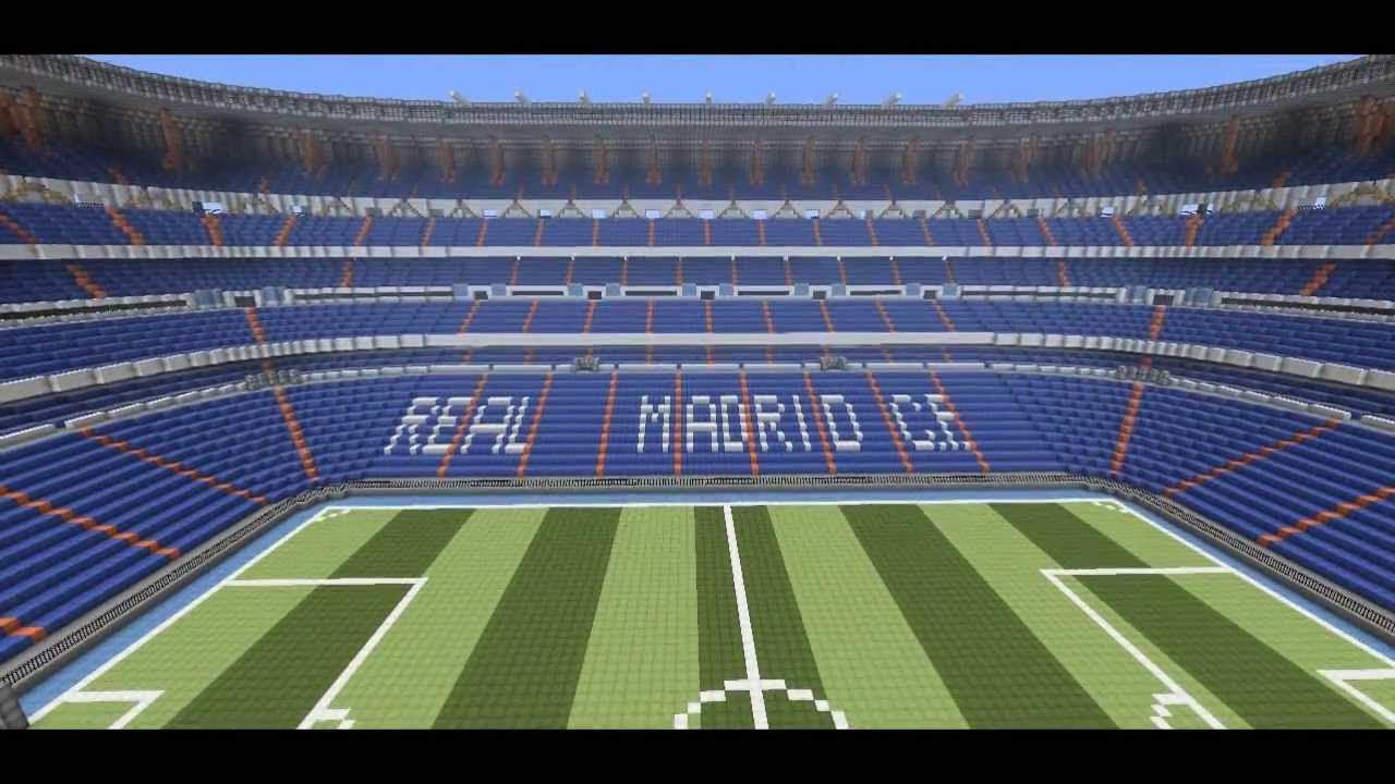 Estadio santiago bernabeu en minecraft real madrid for Estadio bernabeu puerta 0