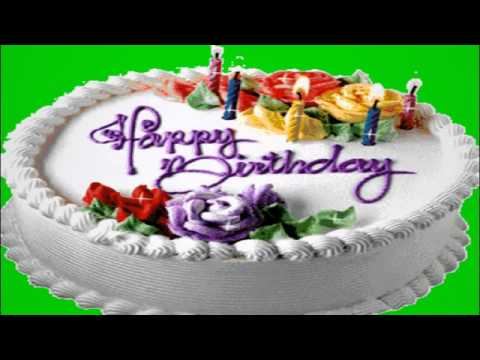 Футаж Торт Happy Birthday Footage for video editing