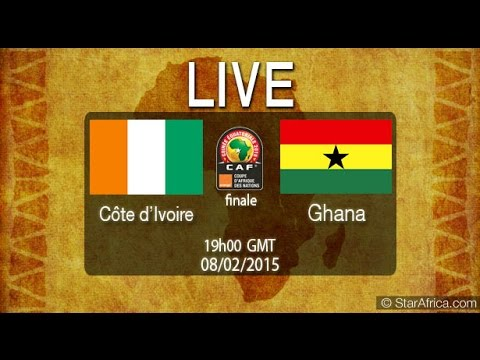 CAN 2015 Final Cote d'ivoire vs Ghana Réaction à Abidjan