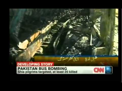 Pakistan bus Bombing:Pakistani policemen shooting one head 30-12-2012