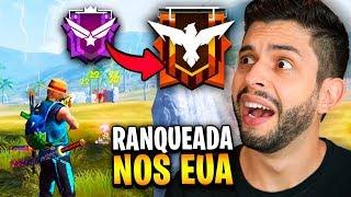 ELES SÃO BONS?!? MINHA PRIMEIRA RANQUEADA NO SERVIDOR AMERICANO DO FREE FIRE!!!