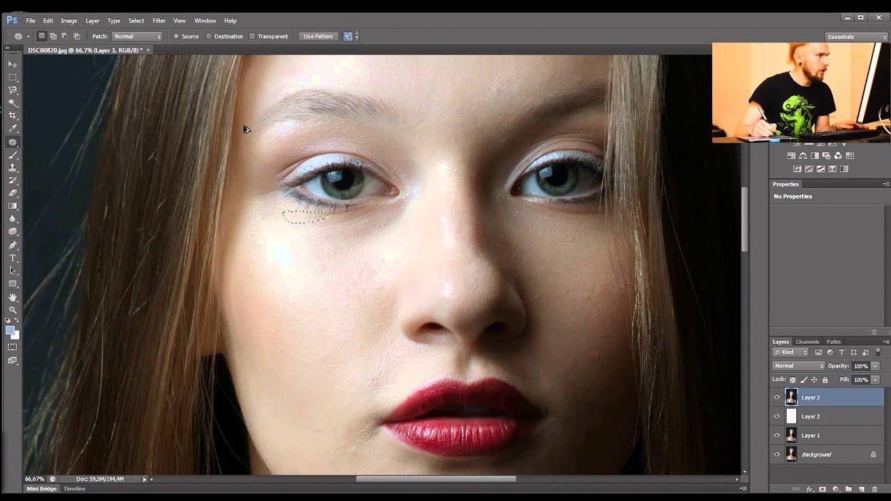 уроки фотошопа как удалить порванности фото предприниматель