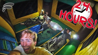 24HR CHALLENGE IN BOUNCE HOUSE!