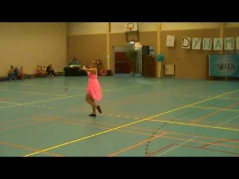 06-09-2014 Concours Coevorden, Jolien Harbers, Solo dance twirl preteen beginner, Harmonie Wierden