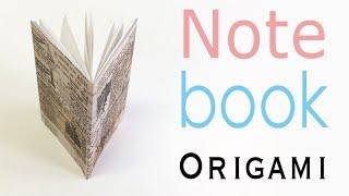 Easy☺︎ Origami Paper Note Book (Notebook) DIY【A4 paper】- Origami Kawaii