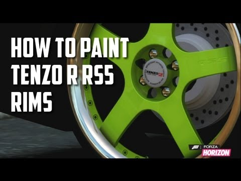 Forza Horizon - How to Paint Chrome Rims - Tenzo R - RS-5 (Paint Glitch)