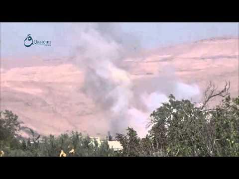 Qasioun News: Rif Dimashq: Airstrike over Douma city 2-9-2015