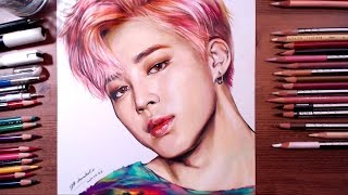 BTS : Jimin - colored pencil drawing | drawholic