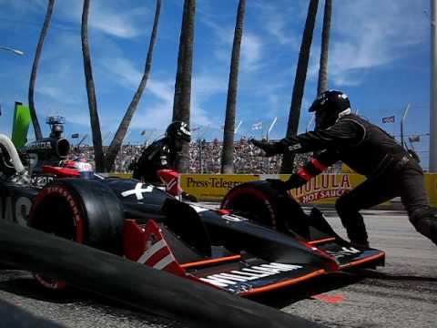 Ryan Hunter-Reay's Second Long Beach Pit Stop - Front Angle