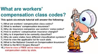 What are workers compensation class codes? | Class Codes