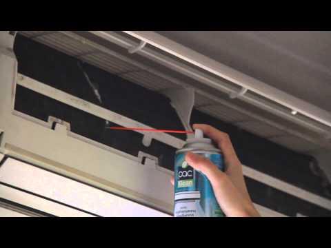 วิธีการใช้งาน การล้างแอร์บ้านด้วยตัวเอง ด้วยสเปรย์ล้างแอร์ - PAC Klean Spray