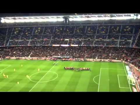 Camp nou stadium barcelona vs villareal