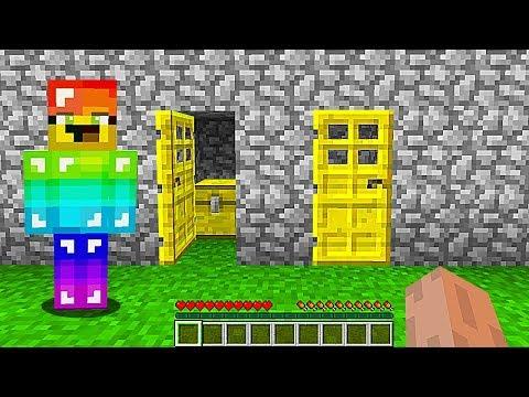 РАДУЖНЫЙ НУБ СКРЫВАЛ ЭТИ ДВЕРИ В Майнкрафте 100 лет! Minecraft Мультики Майнкрафт троллинг Нуб и Про