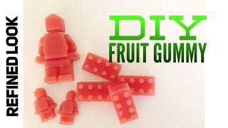 LEGO Fruit Gummies | How to make gummy candy at home