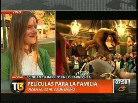 CINE EN TU BARRIO Y CABRITAS GRATIS EN LO BARNECHEA TELETRECE 24 01 2013