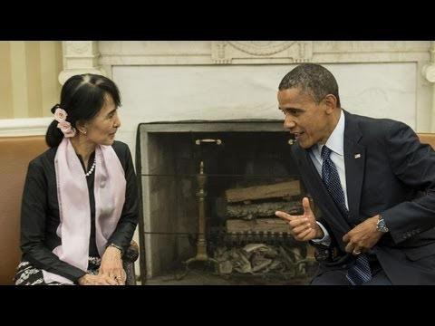 Obama recebe Suu Kyi na Casa Branca