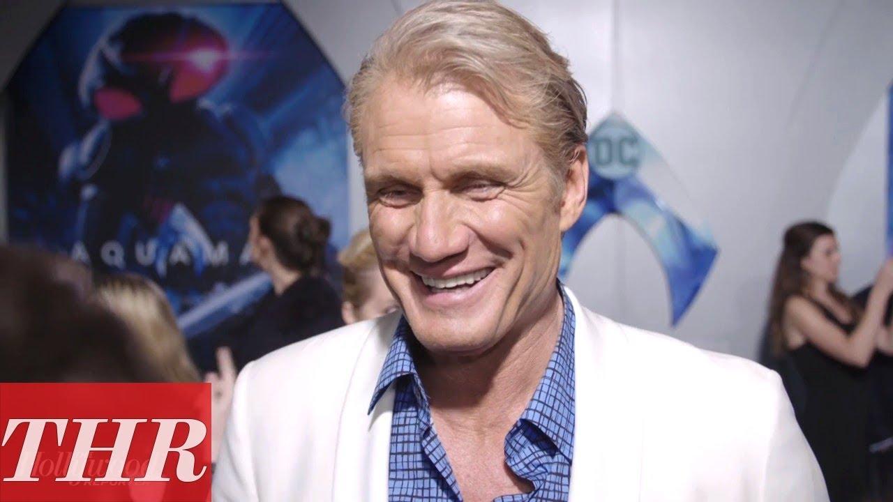 "Dolph Lundgren Talks Working With ""Bigger"" Guys Jason Momoa & Florian Munteau | 'Aquaman' Premiere"