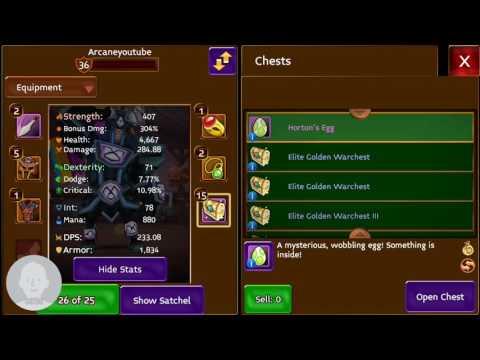 Arcane Legends- OPENING 10 ELITE GOLDEN WARCHESTS!!
