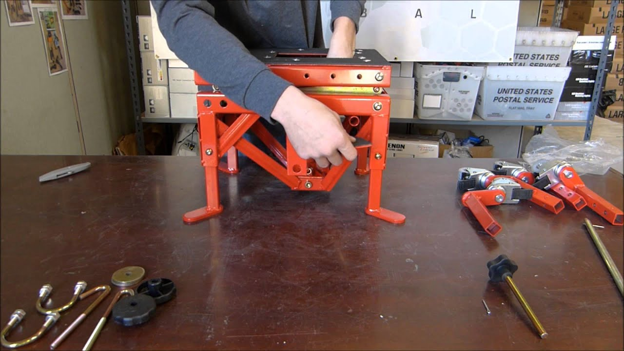 Hydraulic Motorcycle Lift Jack Genssi Youtube