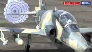 GIANT 1:3.5 SCALE RC BAe Hawk 100 JET (BRAKE CHUTE DEPLOY!)