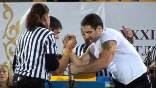 World Armwrestling Championship 2011 - Trubin vs Kostadinov (Right Hand)