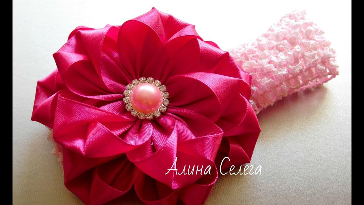 Цветы на повязку своими руками