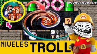 ¡COSAS MUY EXTRAÑAS PASAN AQUÍ! - NIVELES TROLL #13 | Super Mario Maker - ZetaSSJ