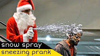 Santa Weird Sneezing Prank On Escalator | Amanah Mall | Prank In Pakistan