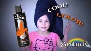Jamie DYES her hair ORANGE!! ARCTIC FOX!!