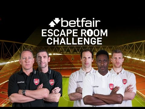 Welbeck, Cech and Mertesacker take on the Betfair Escape Room Challenge