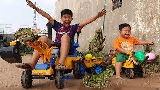 Em Bé Xe Máy Xúc ❤ ChiChi Family ❤ Đồ Chơi Bài Học Cho Bé