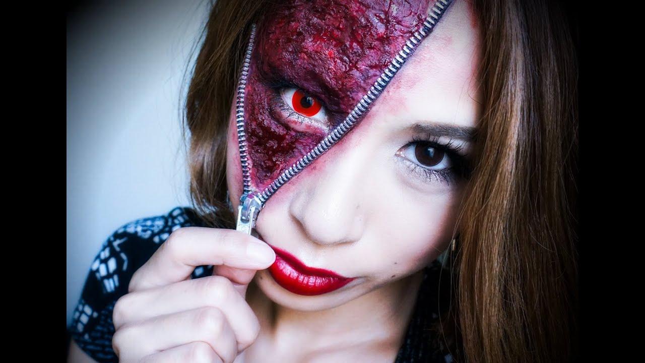 unzipped zipper face makeup tutorial