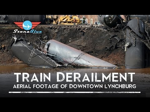 Train Derailment Aerial Footage Lynchburg VA QAV 250