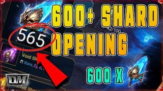 600+ SHARD OPENING! MANY LEGENDARY CHAMPIONS PULLED!!
