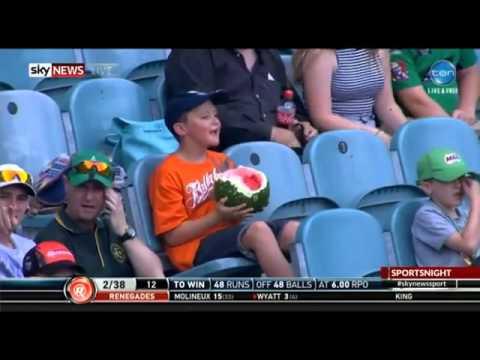 Watermelon boy at the cricket