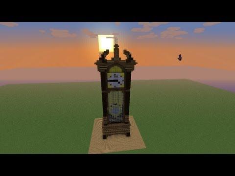 grandfather clock minecraft timelapse youtube. Black Bedroom Furniture Sets. Home Design Ideas